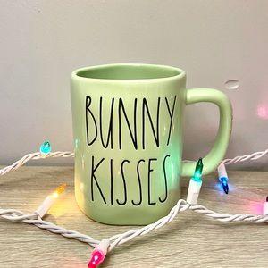 Rae Dunn Green BUNNY KISSES Easter Mug